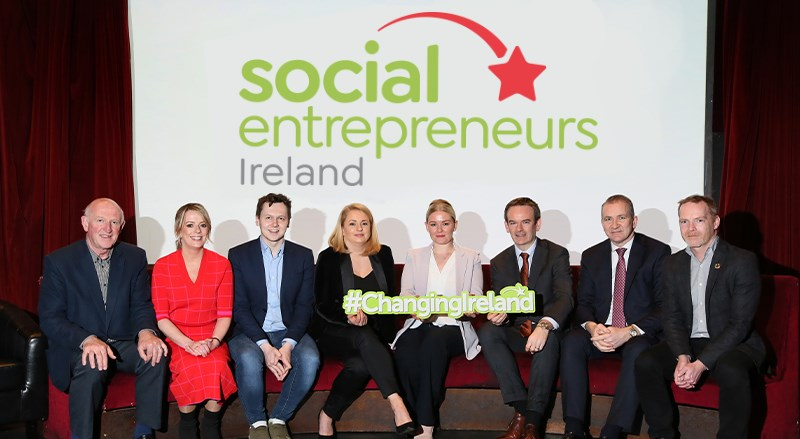 Social Entrepreneurs Ireland and permanent tsb with a banner saying Changing Ireland
